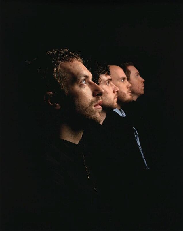 Coldplay (Chris Martin; Guy Berryman; Will Champion; Jonny Buckland), by Jason Bell, 18 April 2005 - NPG x127785 - © Jason Bell