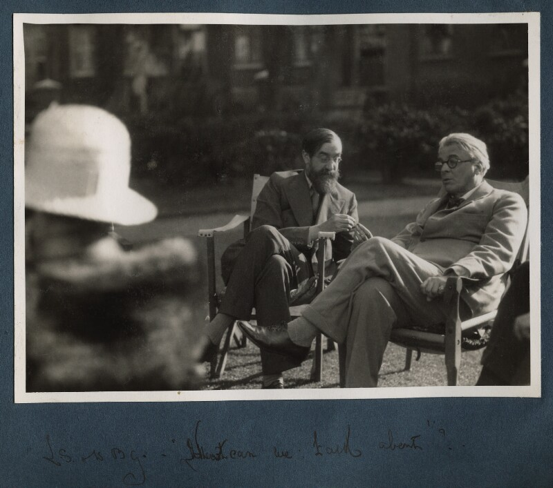 What can we talk about (Lytton Strachey; W.B. Yeats), by Lady Ottoline Morrell, 1931 - NPG Ax143304 - © National Portrait Gallery, London
