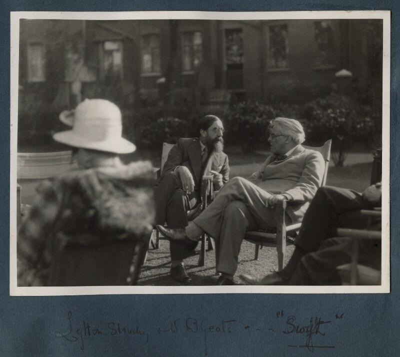 Lytton Strachey; W.B. Yeats, by Lady Ottoline Morrell, 1931 - NPG Ax143305 - © National Portrait Gallery, London