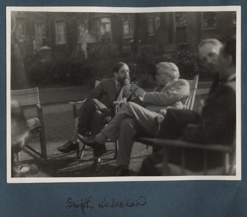 Lytton Strachey; W.B. Yeats, by Lady Ottoline Morrell, 1931 - NPG Ax143306 - © National Portrait Gallery, London