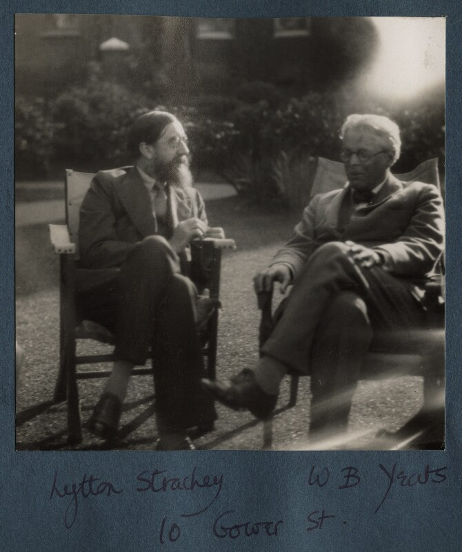 Lytton Strachey; W.B. Yeats, by Lady Ottoline Morrell, 1931 - NPG Ax143308 - © National Portrait Gallery, London
