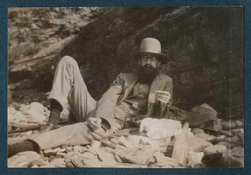 Lytton Strachey, by Unknown photographer, 1916 - NPG Ax143310 - © National Portrait Gallery, London