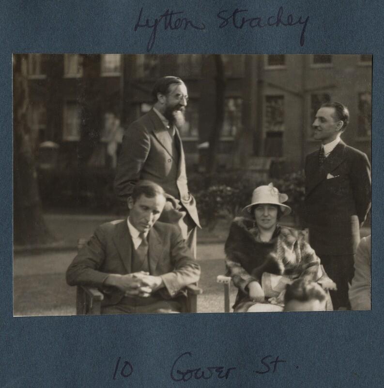 Arthur David Waley; Lytton Strachey; (Helen) Hope Mirrlees; Georges Cattaui, by Lady Ottoline Morrell, 1931 - NPG Ax143313 - © National Portrait Gallery, London