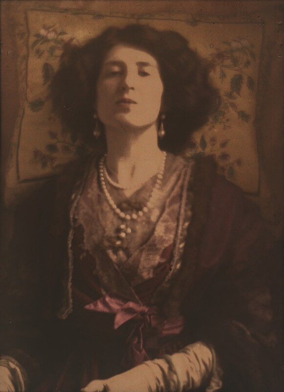 Lady Ottoline Morrell, by Baron Adolph de Meyer, circa 1907 - NPG P1098 - © National Portrait Gallery, London