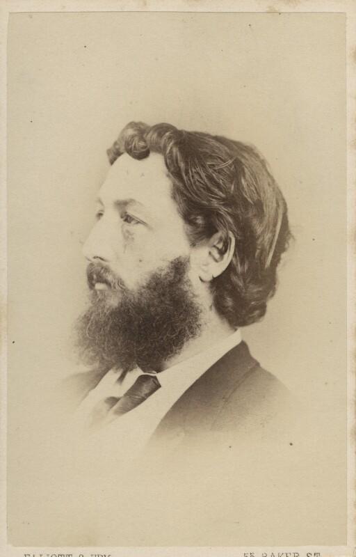 Frederic Leighton, Baron Leighton, by Elliott & Fry, 1860s - NPG Ax28954 - © National Portrait Gallery, London