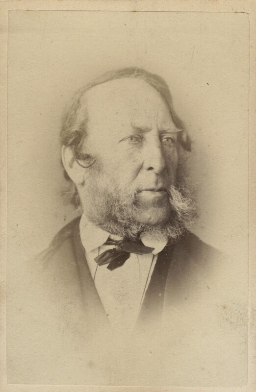 George Cruikshank, by Elliott & Fry, 1860s - NPG Ax28965 - © National Portrait Gallery, London