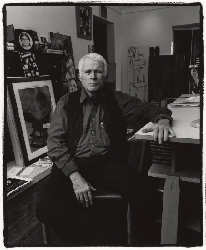 R.B. Kitaj, by Fergus Greer, 1998 - NPG x127796 - © Fergus Greer