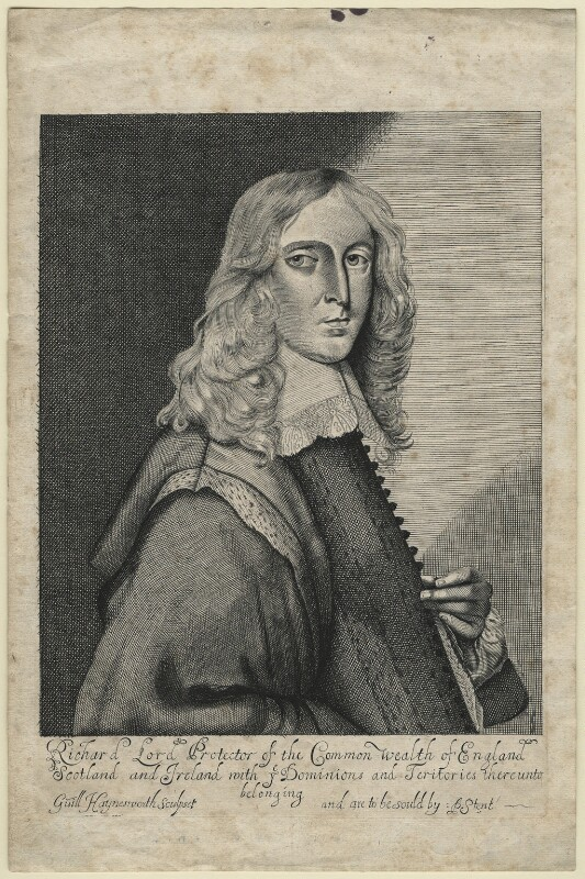 Richard Cromwell, by William Haynesworth, sold by  Peter Stent, circa 1659 - NPG D21358 - © National Portrait Gallery, London