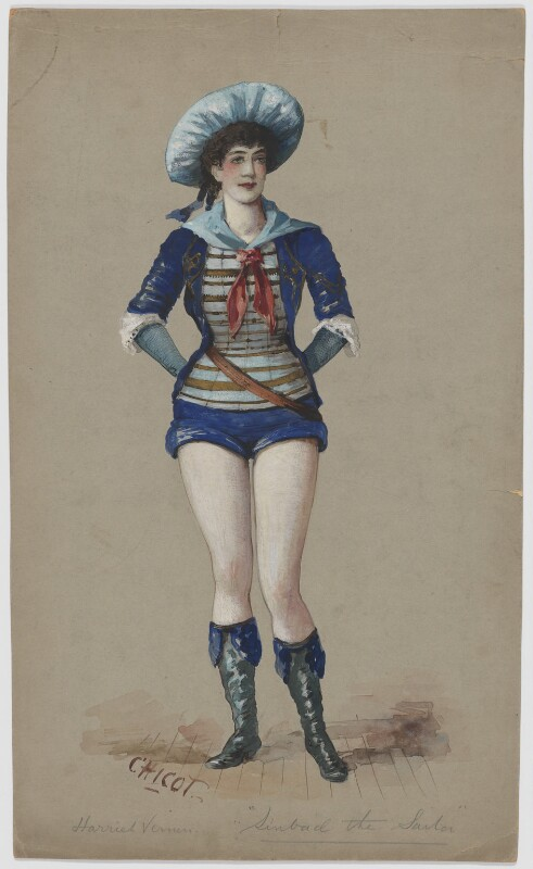 Harriet Vernon as Sinbad the Sailor, by Chicot, 1870s-1880s - NPG D21364 - © National Portrait Gallery, London