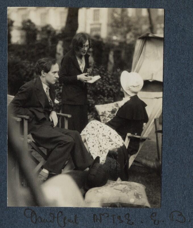 Lord David Cecil; Vivienne ('Vivien') Eliot (née Haigh-Wood); Elizabeth Bowen, by Lady Ottoline Morrell, 1931 - NPG Ax143431 - © National Portrait Gallery, London