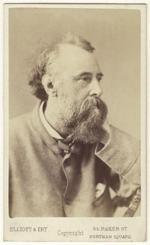 George Frederic Watts, by Elliott & Fry, circa 1870 - NPG Ax17281 - © National Portrait Gallery, London