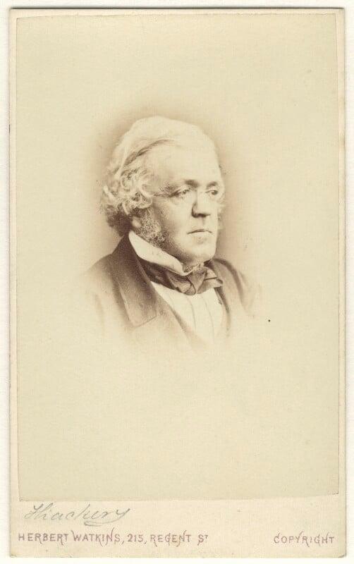 William Makepeace Thackeray, by Herbert Watkins, 1860-1863 - NPG Ax17293 - © National Portrait Gallery, London