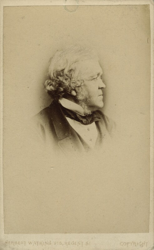 William Makepeace Thackeray, by Herbert Watkins, 1860-1863 - NPG x12964 - © National Portrait Gallery, London