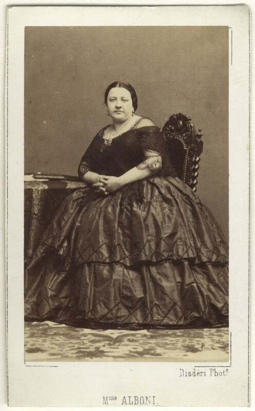 Marietta Alboni, Countess Pepoli (née Maria Anna Marzia), by Disdéri, 1860s - NPG Ax25020 - © National Portrait Gallery, London