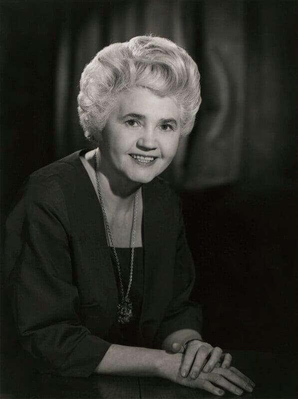 Jennie Lee, by Walter Bird, 15 February 1965 - NPG x165795 - © National Portrait Gallery, London