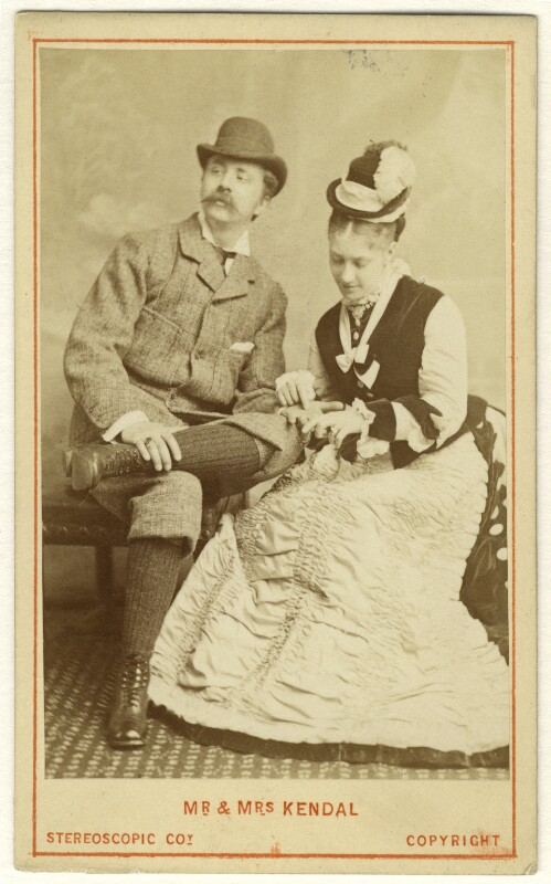 William Hunter Kendal (William Hunter Grimston) and Madge Kendal in 'Mont Blanc', by London Stereoscopic & Photographic Company, 1874 - NPG Ax25049 - © National Portrait Gallery, London