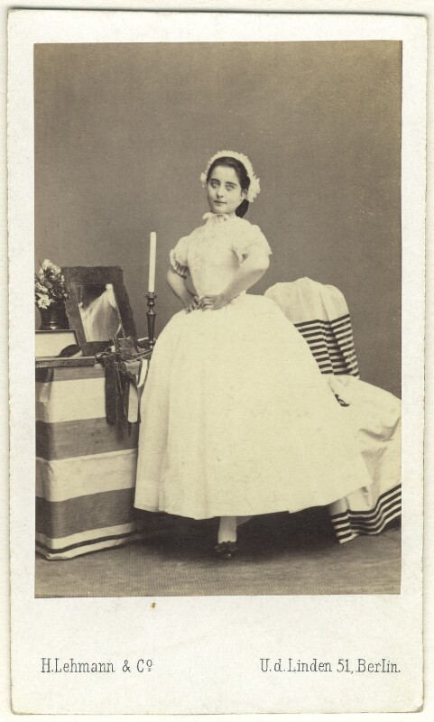Pauline Lucca, by H. Lehmann & Co, 1860s - NPG Ax25052 - © National Portrait Gallery, London