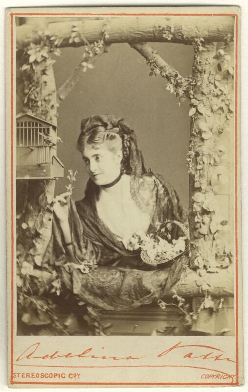 Adelina Patti, by London Stereoscopic & Photographic Company, 1872 - NPG Ax25071 - © National Portrait Gallery, London