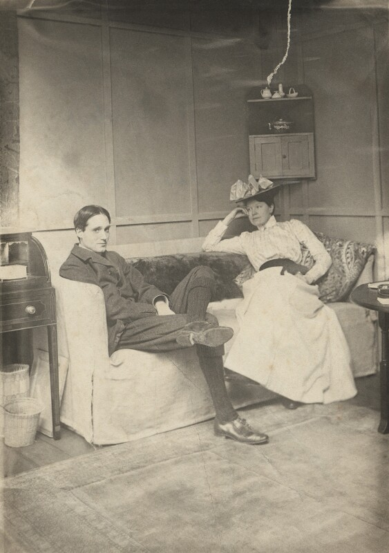 Harley Granville-Barker; Charlotte Shaw (née Payne-Townshend), by George Bernard Shaw, 1906 - NPG x128075 - The Society of Authors, on behalf of the Bernard Shaw Estate