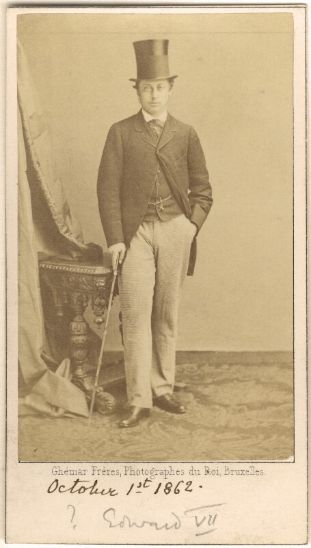King Edward VII, by Ghémar Frères, September 1862 - NPG Ax24150 - © National Portrait Gallery, London