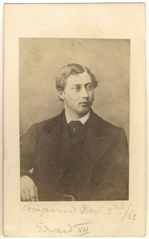 King Edward VII, published by Samuel E. Poulton, 1862 - NPG Ax24152 - © National Portrait Gallery, London