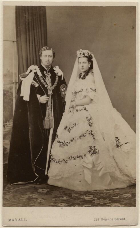 King Edward VII; Queen Alexandra, by John Jabez Edwin Mayall, 18 March 1863 - NPG Ax24156 - © National Portrait Gallery, London