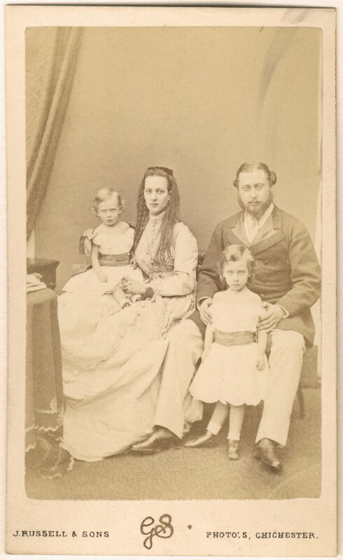 King Edward VII and his family, by James Russell & Sons, July 1867 - NPG Ax24162 - © National Portrait Gallery, London