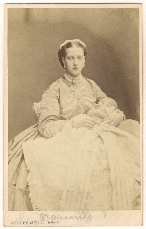 Queen Alexandra; Prince Albert Victor, Duke of Clarence and Avondale, by Southwell Brothers, published by  A. Marion, Son & Co, 1864 - NPG Ax24179 - © National Portrait Gallery, London