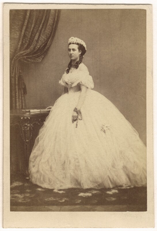 Queen Alexandra, by E. Lange, circa 1860 - NPG Ax24180 - © National Portrait Gallery, London