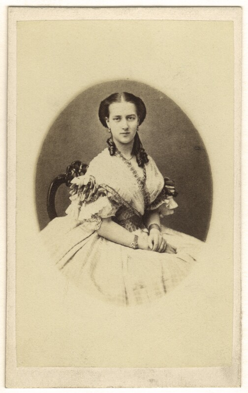 Queen Alexandra, by Georg Emil Hansen, 1863 - NPG Ax24183 - © National Portrait Gallery, London