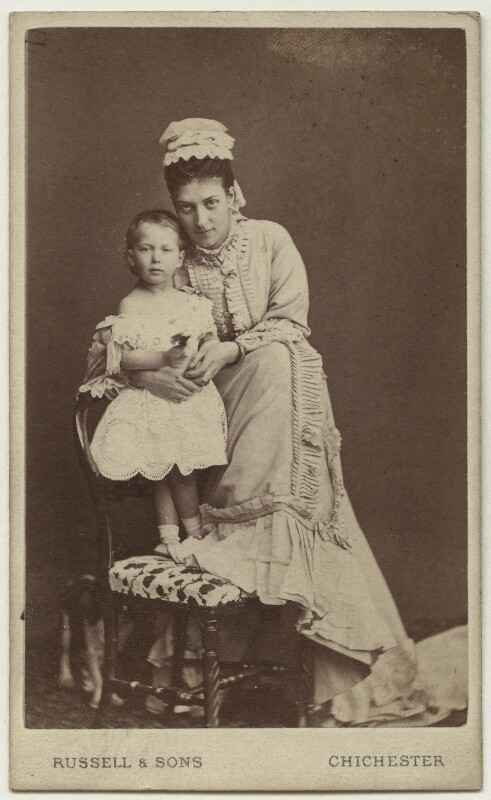 Maud, Queen of Norway; Queen Alexandra, by James Russell & Sons, August 1872 - NPG Ax24184 - © National Portrait Gallery, London