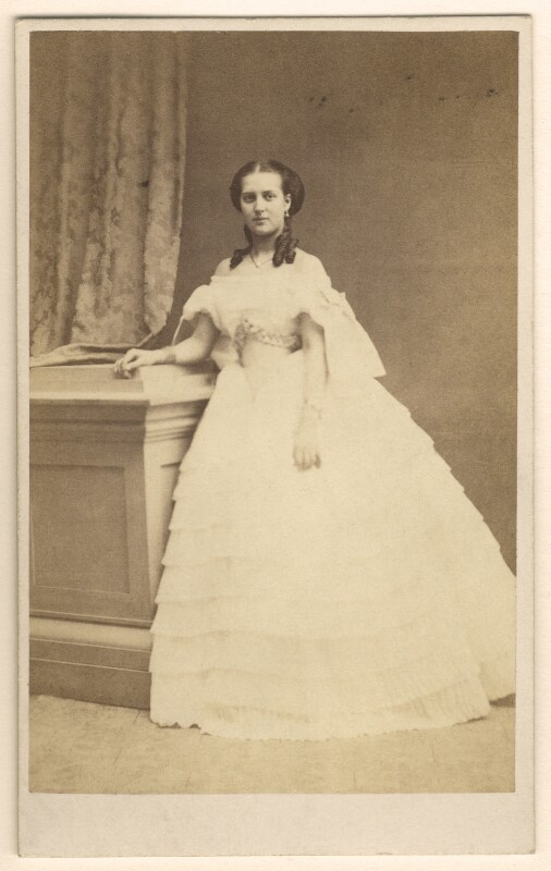 Queen Alexandra, by E. Lange, circa 1860 - NPG Ax24174 - © National Portrait Gallery, London