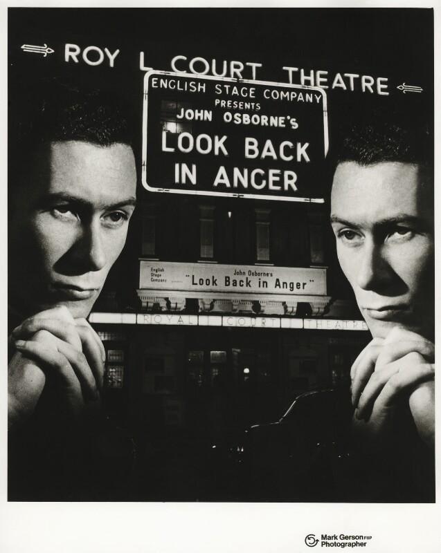 John Osborne, by Mark Gerson, 1957 - NPG x32734 - © Mark Gerson / National Portrait Gallery, London