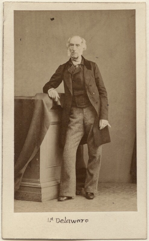 George John Sackville-West, 5th Earl De La Warr, by Caldesi, Blanford & Co, early 1860s - NPG Ax16240 - © National Portrait Gallery, London