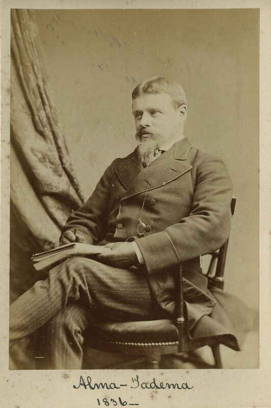 Sir Lawrence Alma-Tadema, by Elliott & Fry, circa 1876 - NPG x128132 - © National Portrait Gallery, London
