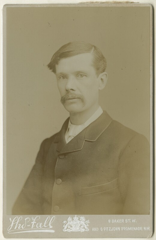 Sir Alfred Edward East, printed by Thomas Fall, after  Disdéri, early-mid 1890s (mid-late 1870s) - NPG x128133 - © National Portrait Gallery, London