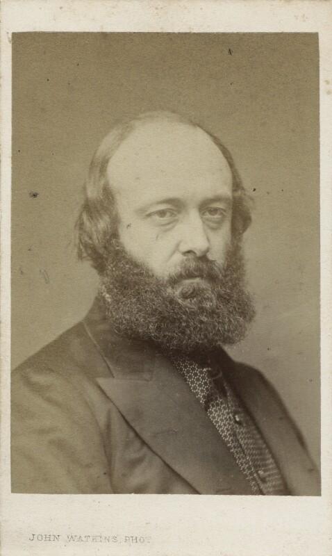 Robert Gascoyne-Cecil, 3rd Marquess of Salisbury, by John Watkins, early 1870s - NPG Ax17739 - © National Portrait Gallery, London