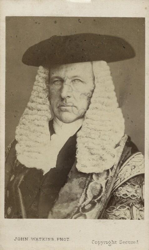 (John) Evelyn Denison, 1st Viscount Ossington, by John Watkins, or by  John & Charles Watkins, circa 1863 - NPG Ax17743 - © National Portrait Gallery, London
