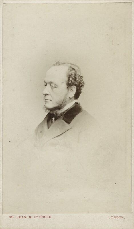 Gathorne Gathorne-Hardy, 1st Earl of Cranbrook, by Thomas McLean & Co, late 1860s - NPG Ax17758 - © National Portrait Gallery, London