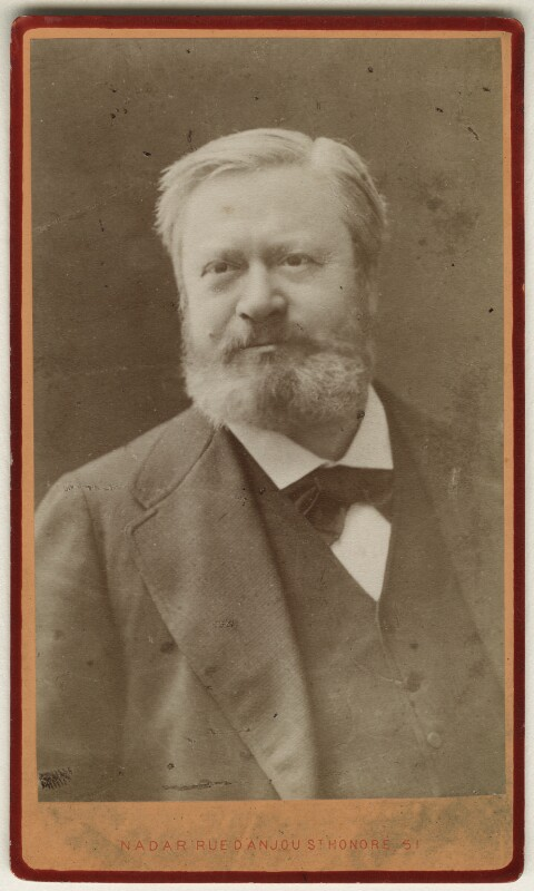Edmond François Valentin About, by Nadar (Gaspard Félix Tournachon), 1880s - NPG Ax17814 - © National Portrait Gallery, London