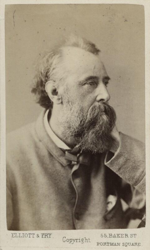 George Frederic Watts, by Elliott & Fry, circa 1870 - NPG Ax17855 - © National Portrait Gallery, London