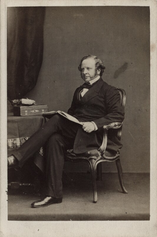 Granville George Leveson-Gower, 2nd Earl Granville, by John & Charles Watkins, early 1860s - NPG Ax17860 - © National Portrait Gallery, London