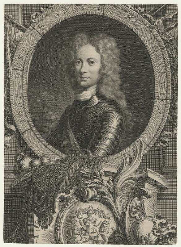 John Campbell, 2nd Duke of Argyll and Greenwich, by Jacobus Houbraken, after  William Aikman, 1735 - NPG D21422 - © National Portrait Gallery, London
