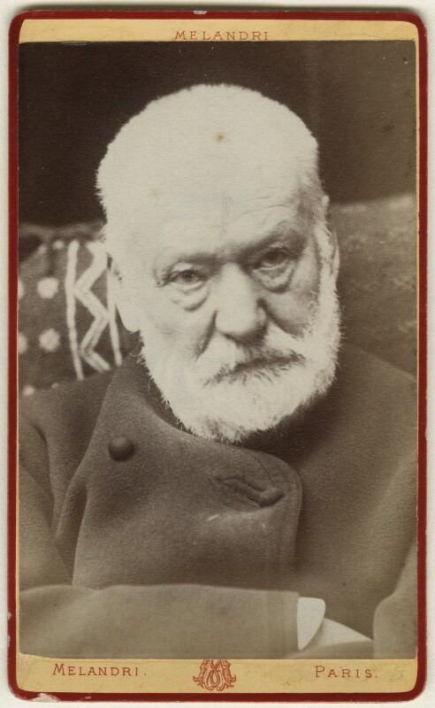 Victor Hugo, by Melandri, early-mid 1880s - NPG Ax17870 - © National Portrait Gallery, London