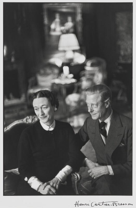Wallis, Duchess of Windsor; Prince Edward, Duke of Windsor (King Edward VIII), by Henri Cartier-Bresson, 1951 - NPG P729 - © Henri Cartier-Bresson / Magnum Photos