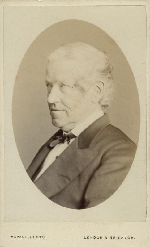 Sir Charles Wheatstone, by John Jabez Edwin Mayall, circa 1871 - NPG Ax18209 - © National Portrait Gallery, London