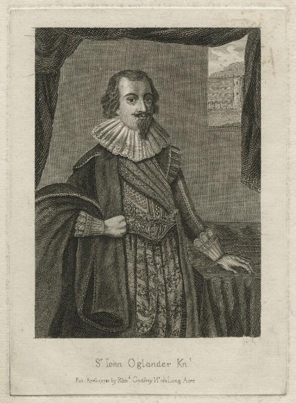 Sir John Oglander, by and published by Richard Godfrey, after  Unknown artist, published 1781 - NPG D21549 - © National Portrait Gallery, London