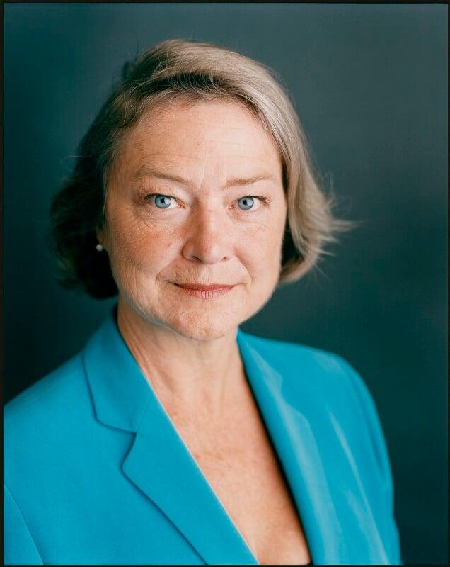 Kate Adie, by Harry Borden, 10 September 2002 - NPG x128163 - © Harry Borden