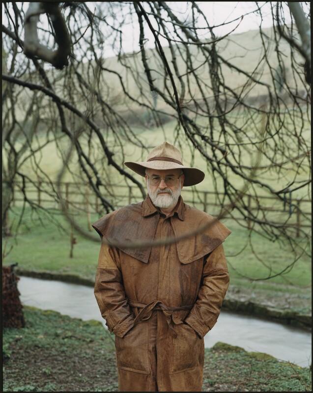 Terry Pratchett, by Harry Borden, 20 March 2001 - NPG x128164 - © Harry Borden