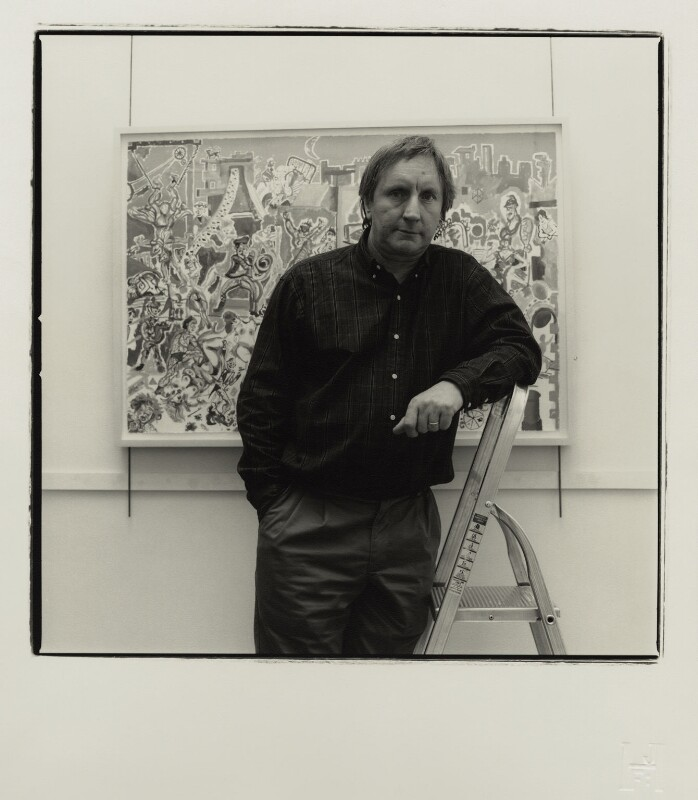 Chris Orr, by James F. Hunkin, March 2001 - NPG x128184 - © James F. Hunkin / National Portrait Gallery, London